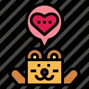 bear, heart, love, romantic, valentine