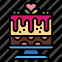 cake, dessert, sweet, wedding