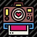 camera, heart, love, photograph
