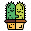cactus, couple, love, natural