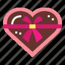 box, chocolate, gift, heart, romantic