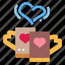 coffee, heart, love, mug
