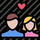 couple, heart, love, valentine, wedding