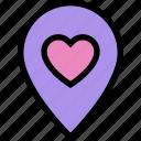 date, location, love, romance, tagging icon