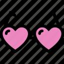 eye, eyeglasses, glasses, heart, love icon