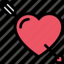 arrow, arrows, heart, love, romance icon