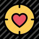 heart, love, romance, romantic, sight icon