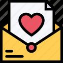 heart, letter, love, mail, romance, romantic