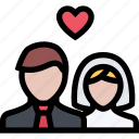 couple, girl, love, man, newlyweds, romantic, wedding icon