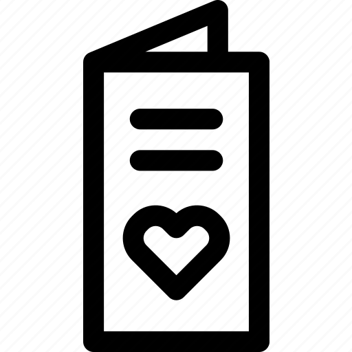 card, love, message, note, passion, romance, text icon