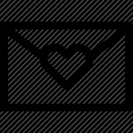 envelope, heart, letter, love, message, paper, romance icon