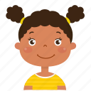 girl, avatar, student, happy, smiley, kid, child icon