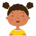 girl, avatar, happy, smiley, student, kid, child icon
