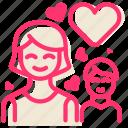 heart, love, motherhood, child, happy