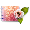 carnet, catalog, cd, d, dc, dccd, dcd, flower, flowers, love, lovely, rose icon
