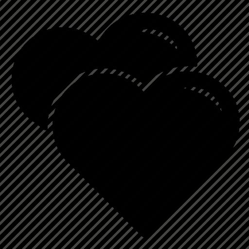 hearts, lovers, romance, valentines icon