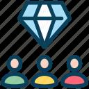 loyalty, diamond, premium, group, customer, feedback