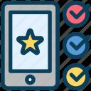 loyalty, favorite, feedback, star, mobile, premium