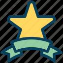 loyalty, star, ribbon, award, achievement, ranking