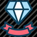 loyalty, diamond, ribbon, award, achievement, ranking