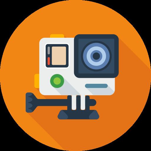 camera, media, movie, social icon