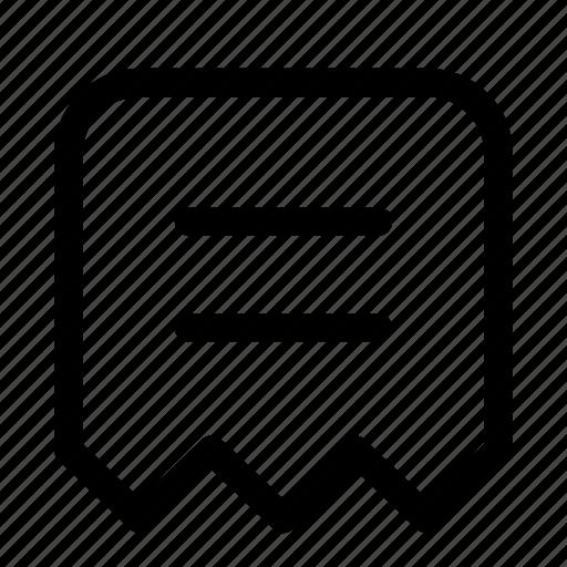 bill invoice receipt slip token icon