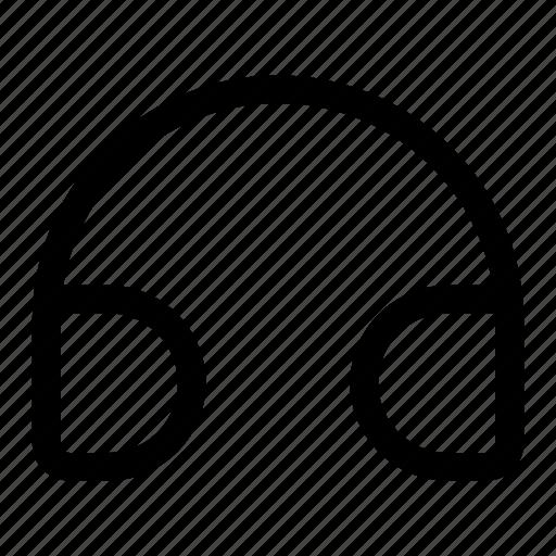 audio, head, listen, music, phone, speaker icon