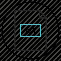 avi icon, avi video icon, document, file extension, format icon icon