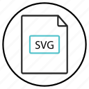 file extension, folder svg, svg file icon, svg icon, svg+xml icon, vector format icon icon