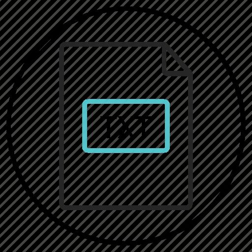 file, file extension, text file, txt file, txt icon icon