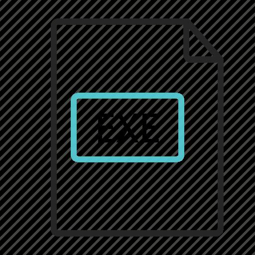 computer, document, exe file, format, pdf, programprograms, text icon icon