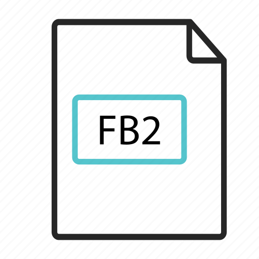 book, extension, fb2 icon, file icon, type icon icon