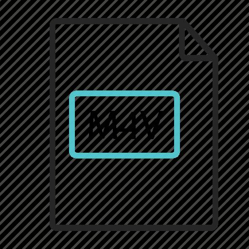 document, itunes video file, m4v icon, video icon icon