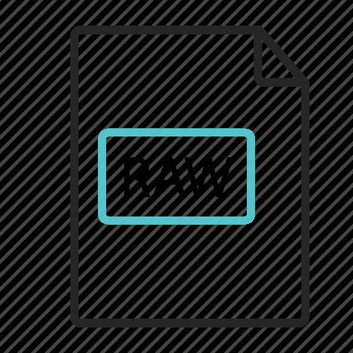 extensio, extension, format, image icon., raw icon icon