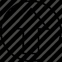 arrow, location, map, up icon