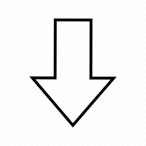 arrow, direction, down, download, shape icon