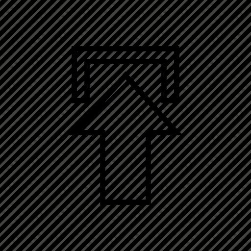 arrow, cloud, data, export, internet, stroke, up icon