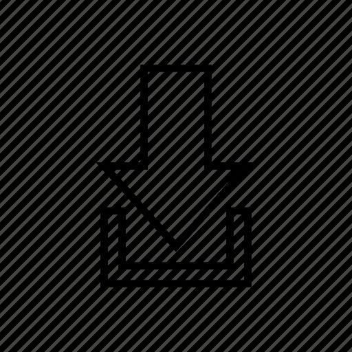 arrow, down, downarrow, download, location, navigation icon