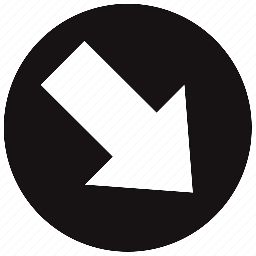 arrow, arrows, circle, direction, down, next icon