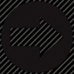 arrow, arrows, circle, direction, next, right icon