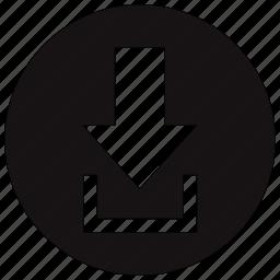 arrow, down, downarrow, download icon