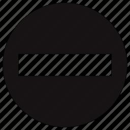 action, cancel, circle, close, delete, minus icon