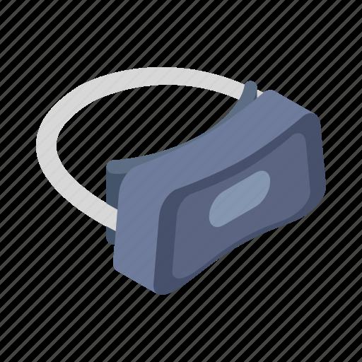 entertainment, headset, isometric, reality, sign, style, virtual icon