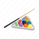 ball, billiard, game, isometric, sign, sport, style