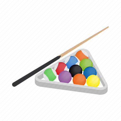 ball, billiard, game, isometric, sign, sport, style icon