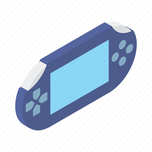 console, controller, device, gadget, game, handheld, isometric icon