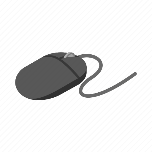 computer, internet, isometric, mouse, pc, tool, wire icon