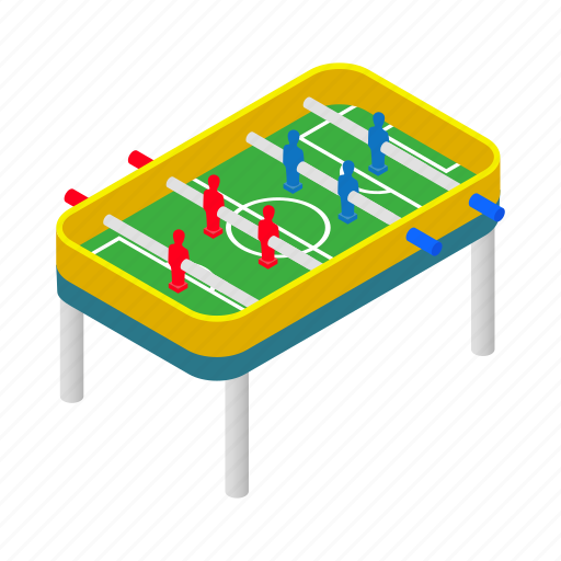 ball, football, goal, isometric, kick, sign, table icon