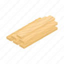 background, build, isometric, plank, stack, stacked, wood icon