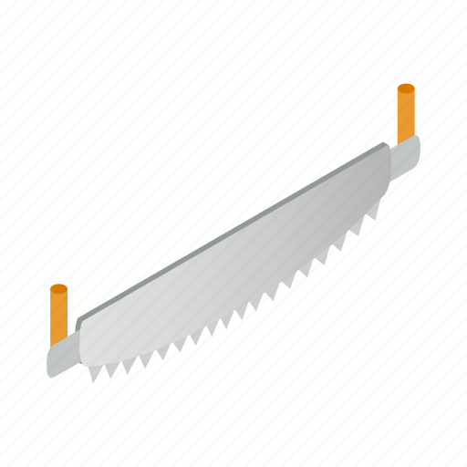 blade, crosscut, hand, isometric, saw, sign, two-man icon